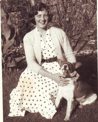 Beverley Manners 1954 with best friend Dusty